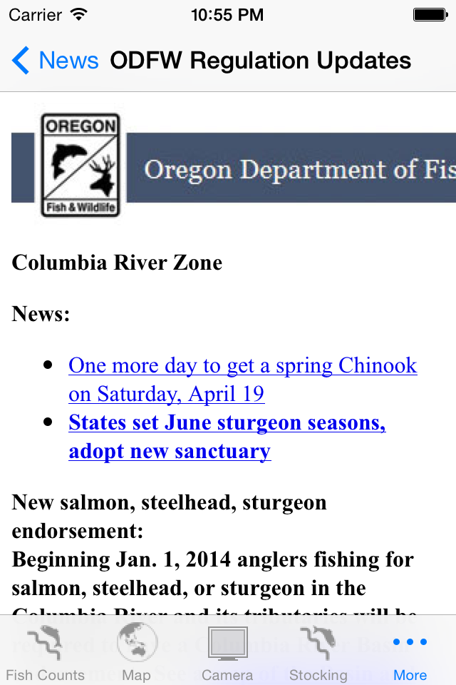 FishCount Regulations ScreenShot